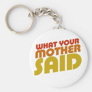 Dads favorite saying basic round button keychain