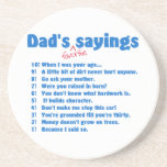 Dad's favorite sayings coasters