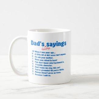 Dads favorite sayings mug