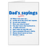 Dad's favorite sayings on gifts for him. cards