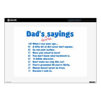 Dad's favorite sayings laptop decal