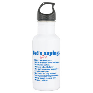 Dad's favorite sayings stainless steel water bottle