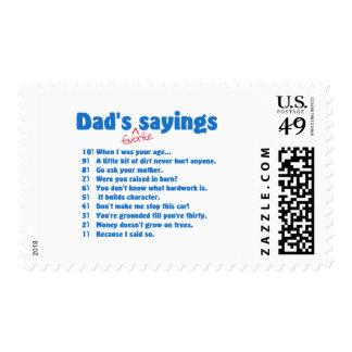 Dads favorite sayings stamp