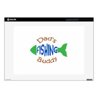 """Dads Fishing Buddy 15"""" Laptop Skin"""