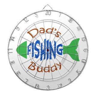 Dads Fishing Buddy Dartboard With Darts