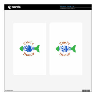 Dads Fishing Buddy Decals For Kindle Fire