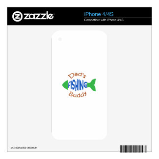 Dads Fishing Buddy Decals For The iPhone 4S