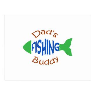 Dads Fishing Buddy Postcard