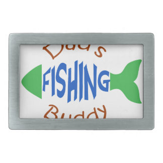 Dads Fishing Buddy Rectangular Belt Buckle