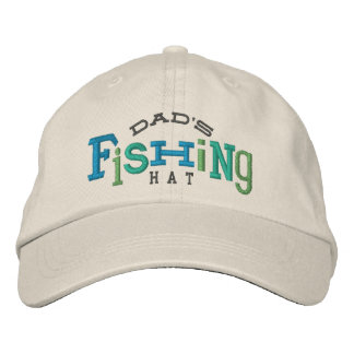 Dad's Fishing Embroidery Hat Embroidered Baseball Cap