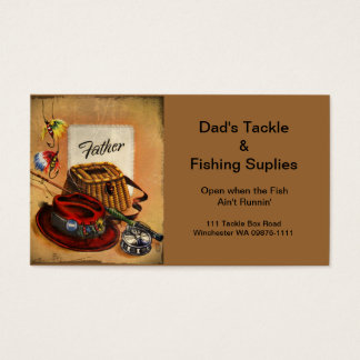 Dad's Fishing Tackle and Bait Business Card