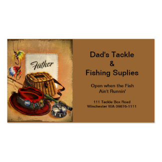 Dad's Fishing Tackle and Bait Double-Sided Standard Business Cards (Pack Of 100)