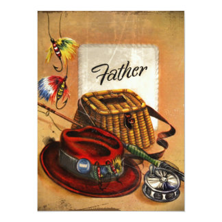 Dad's Fishing Tackle and Bait 5.5x7.5 Paper Invitation Card