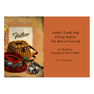 Dad's Fishing Tackle and Bait Large Business Cards (Pack Of 100)