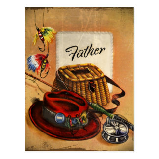 Dad's Fishing Tackle and Bait Postcard
