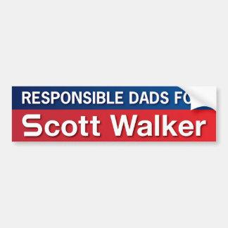 Dads for Scott Walker Car Bumper Sticker