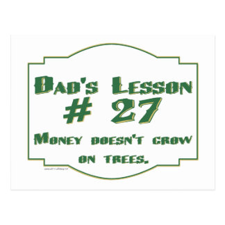 Dad's funny advice t-shirts and gifts for him. postcard