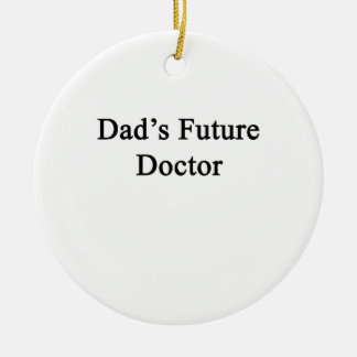 Dad's Future Doctor Double-Sided Ceramic Round Christmas Ornament