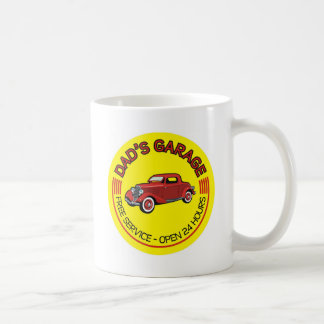 Dad's Garage for father who has car workshop Classic White Coffee Mug