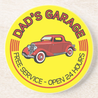 Dad's Garage for father who has car workshop Coaster