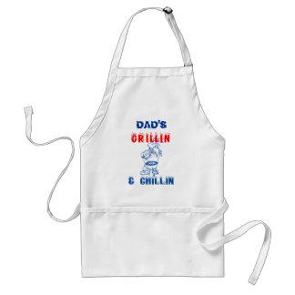 DAD'S Grillin & Chillin Adult Apron