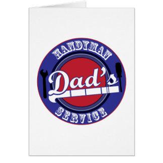 Dad's Handyman Service Greeting Cards