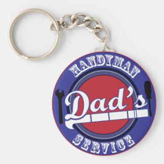 Dad's Handyman Service Keychains