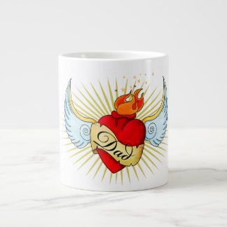 Dad's Heart Large Coffee Mug