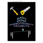 Dad's home improvement projects handyman card
