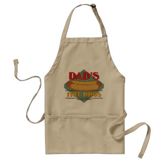 Dad's Hot Dogs Adult Apron
