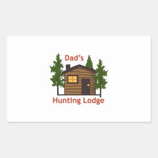 Dad's Hunting Lodge Rectangular Sticker