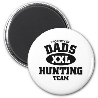 Dads hunting team 2 inch round magnet