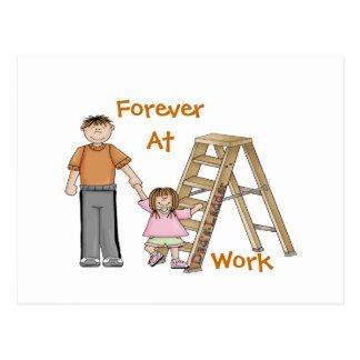 Dad's Ladder Postcard