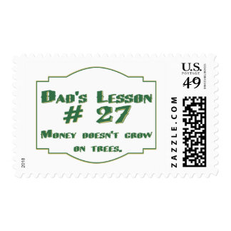 Dad's lesson #27 stamp