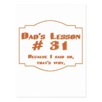 Dad's lesson #31: postcards