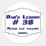 Dad's lesson #38 sticker
