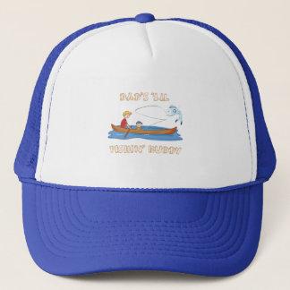"""Dad's """"Lil Fishin' Buddy Trucker Hat"""