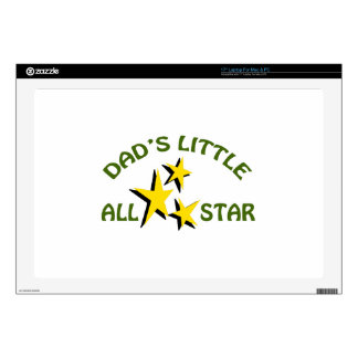 """DADS LITTLE ALLSTAR DECAL FOR 17"""" LAPTOP"""