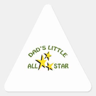 DADS LITTLE ALLSTAR TRIANGLE STICKER