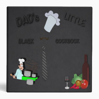 Dad's Little Black Cookbook 3 Ring Binder