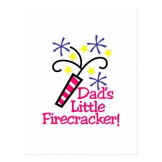 Dad's Little Firecracker! Postcard