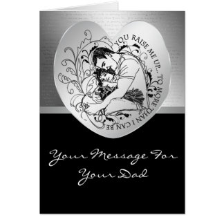 Dad's little girl line drawing text design card