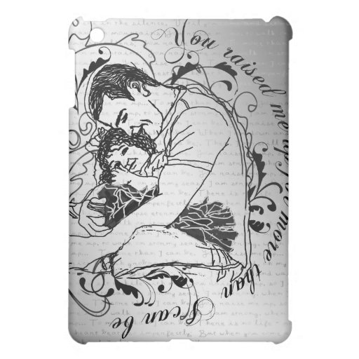 Line drawing little girl : Dad s little girl line drawing text design ipad mini cases