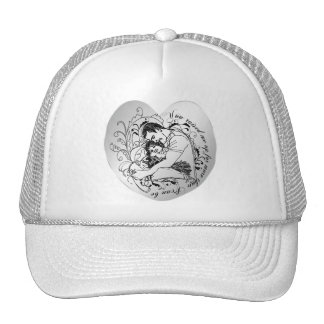 Dad's little girl line drawing text design trucker hat