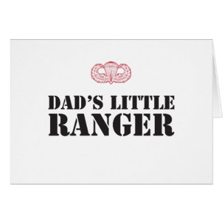DAD'S LITTLE RANGER CARD