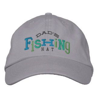 Dad's Lucky Fishing Embroidery Hat