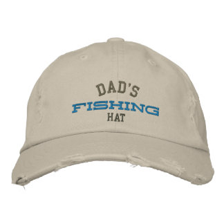 Dad's Lucky Fishing Embroidery Hat Baseball Cap