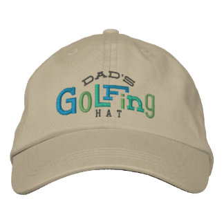 Dad's Lucky Golfing Embroidery Hat Embroidered Baseball Caps