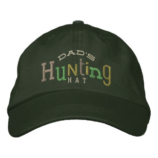 Dad's Lucky Hunting Embroidery Hat Embroidered Hats
