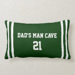 Dad's Man Cave Customizable Sports Fan Pillow